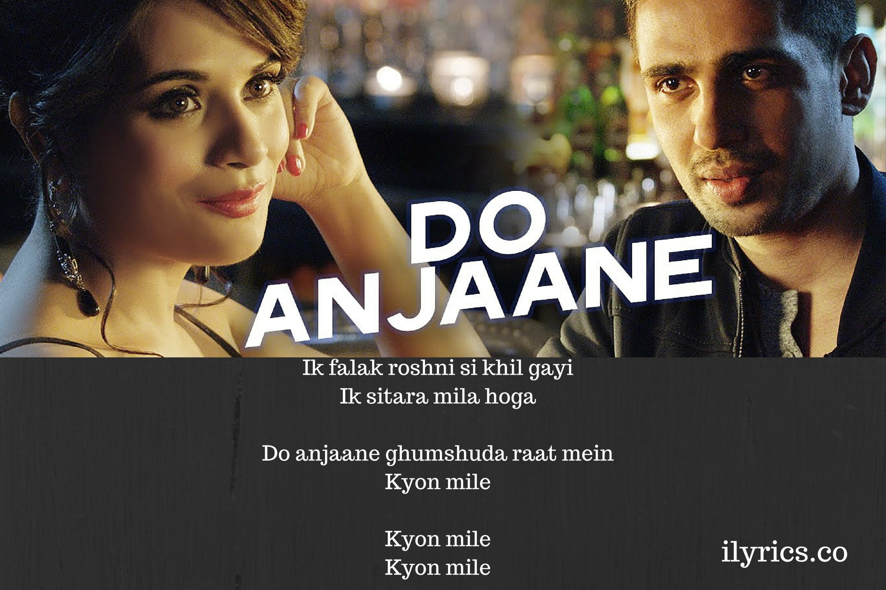 Do Anjaane Lyrics