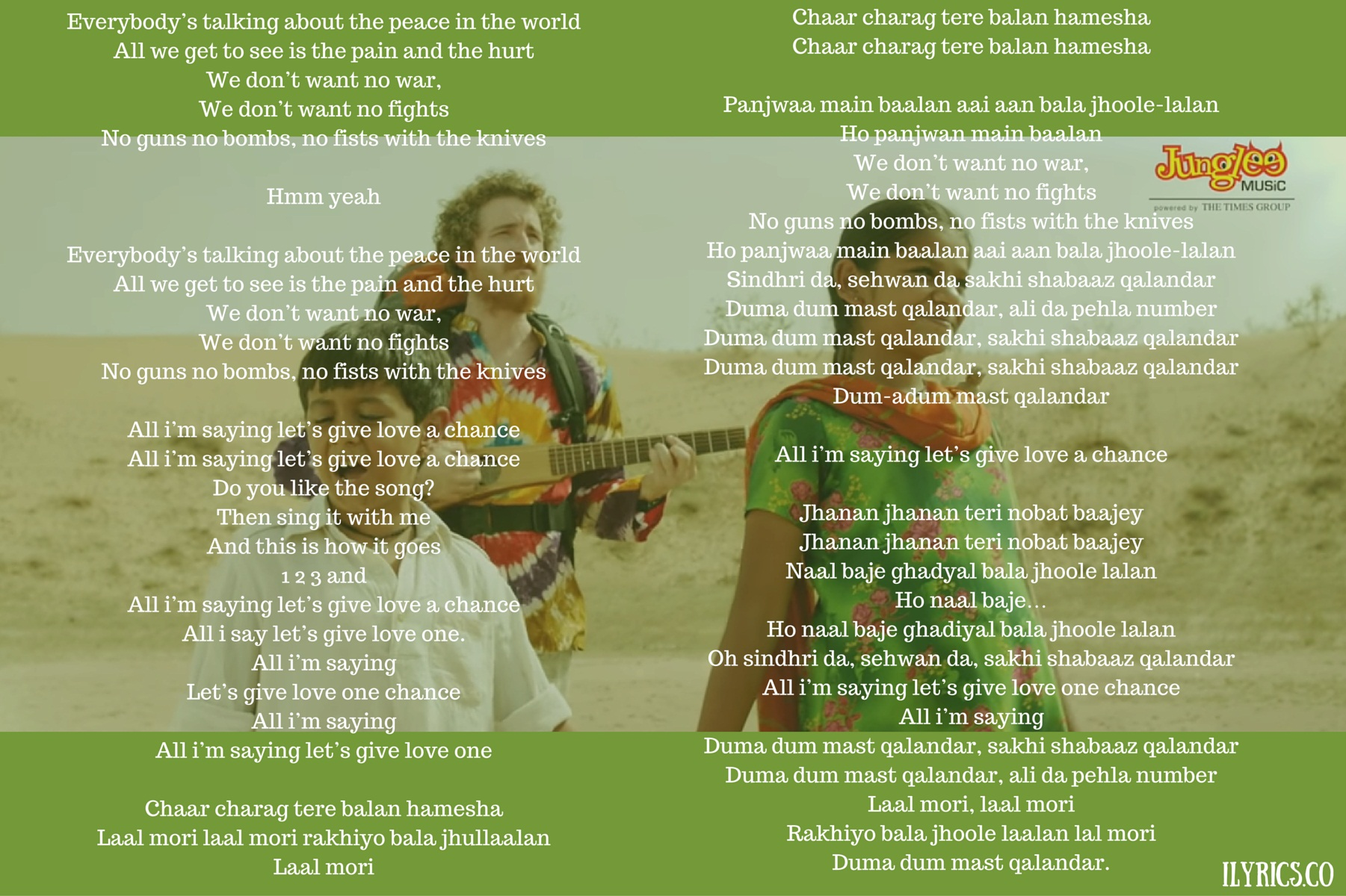 Let's Give Love a Chance(Dum-A-Dum) Lyrics
