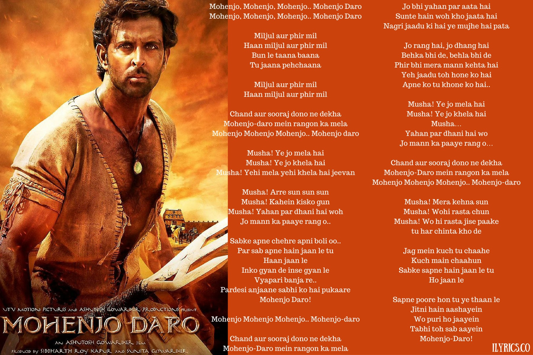 Mohenjo Daro Lyrics