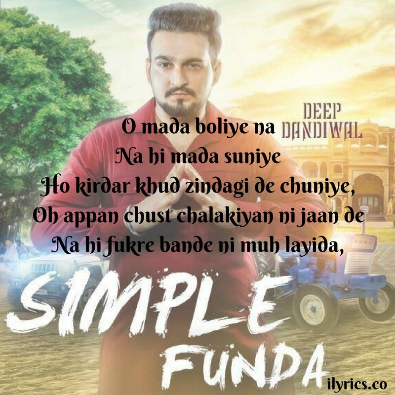 simple funda lyrics