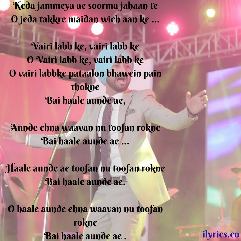 toofan rokne lyrics