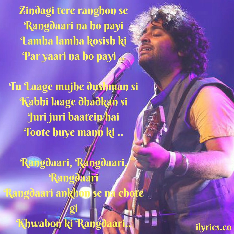 rangdaari lyrics