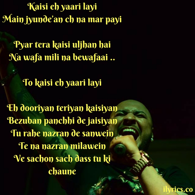 bewafaai lyrics