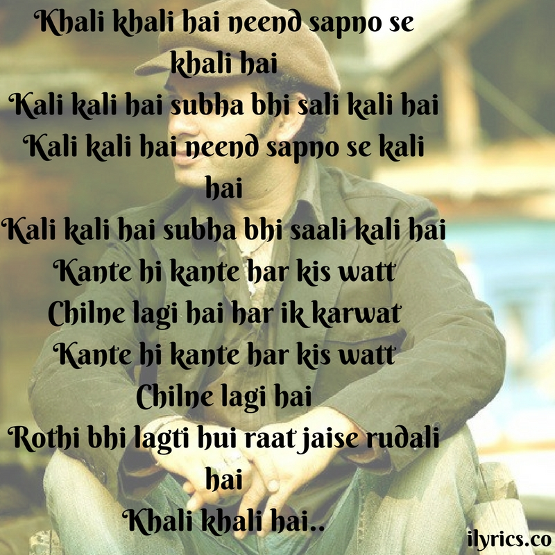 khali khali lyrics