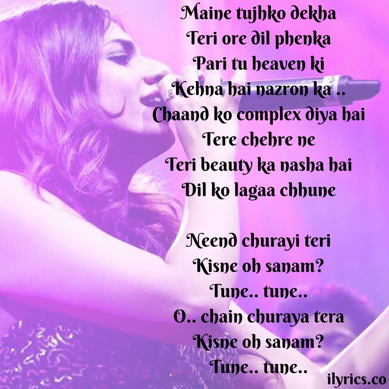 maine tujhko dekha lyrics