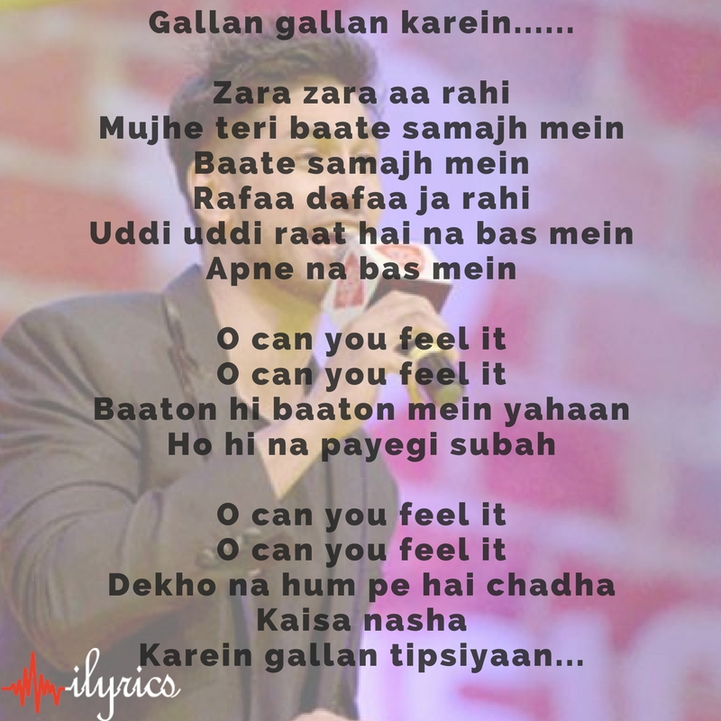 gallan tipsiyaan lyrics