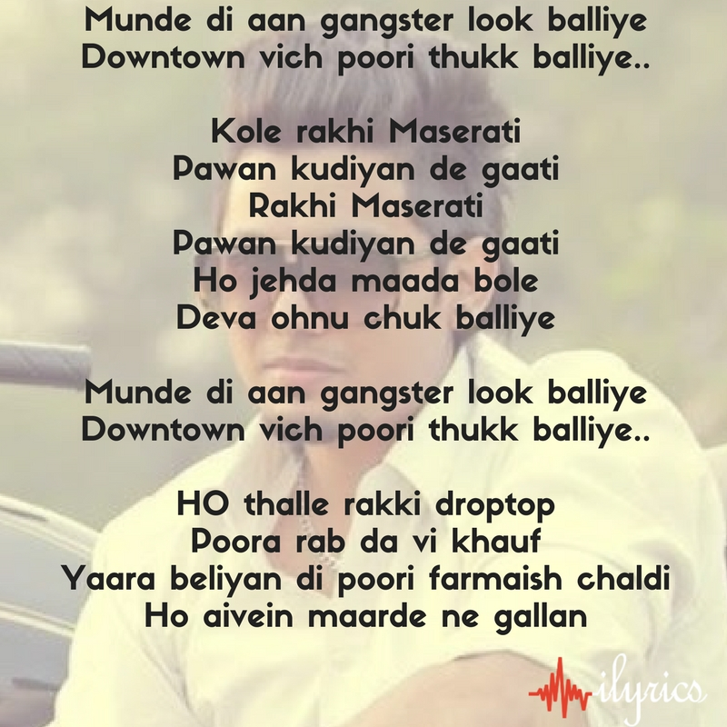 gangster look lyrics