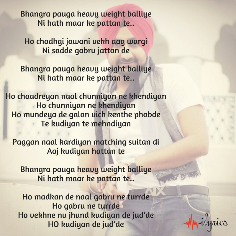 heavy weight bhangra lyrics