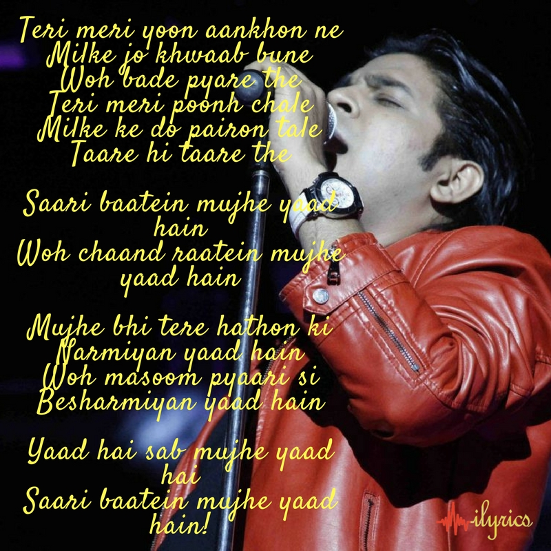 yaad hai lyrics