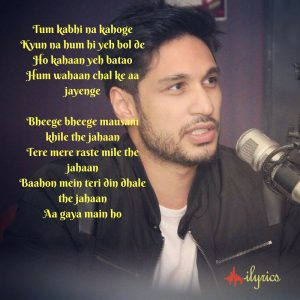 aaya na tu lyrics